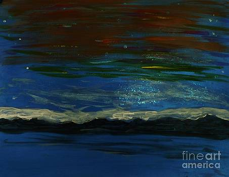 Starry Sky Over Water by Marie Bulger