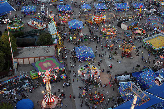 State Fair Midway by Laurie Poetschke
