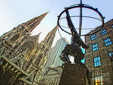 Statue of Atlas facing St.Patrick's Cathedral by Nishanth Gopinathan