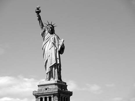 Statue of Liberty Black and White by Luis Lugo