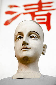 Statue with chinese character by Craig Perry-Ollila