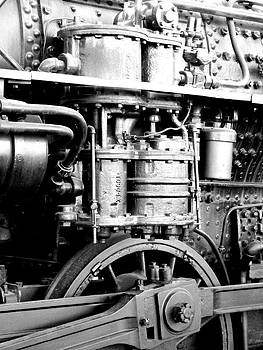 Karyn Robinson - Steam Locomotive Train Detail Black and White