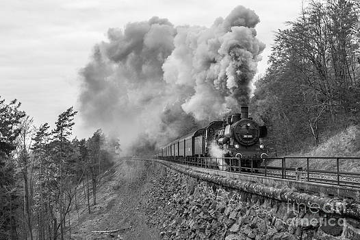 Steam train at the Schiefe Ebene  by Christian Spiller