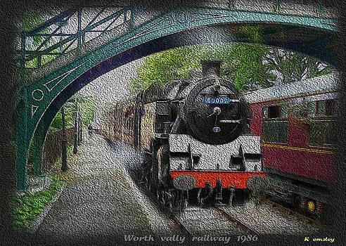 Steam train worth valley line by Karl Emsley