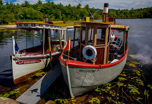 Steamboats on the Lake by Thomas Lavoie