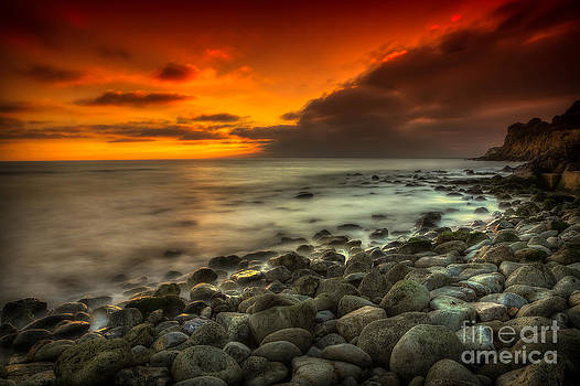 English Landscapes - Steephill Cove Sunset
