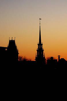 Steeple - Harvard Square Before Dawn by Paul Thomas