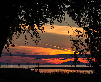 Steveston BC Sunset by Melodie Douglas