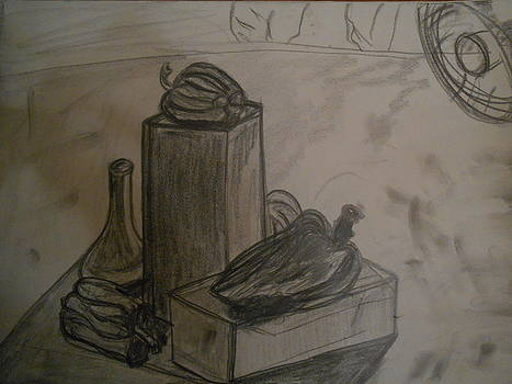 Still Life Drawing with Bell Peppers by Shea Holliman