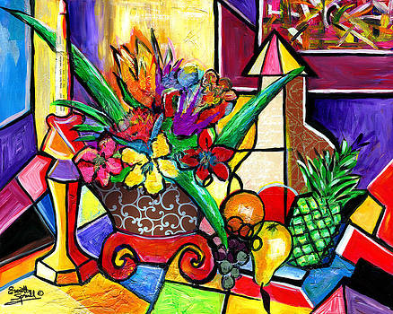 Still Life Fruit and Floral by Everett Spruill