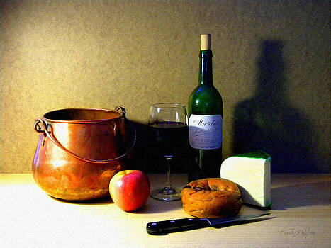 Frank Wilson - Still Life Merlot And Copper Pot