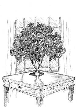 Still Life Roses by Lee Halbrook