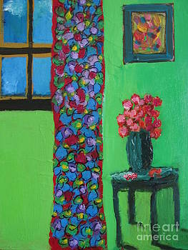 Still Life with Blue Vase by Omar Hafidi