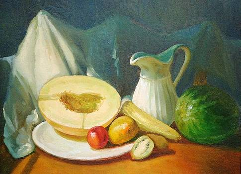 Still Life with Canteloupe by Michael Chesnakov
