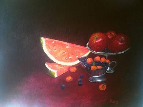 Still Life With  Fruits by John Davis