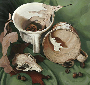 Still Life with Gopher Skull by Lena Quagliato