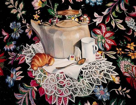 Still life with lace by Constance Drescher