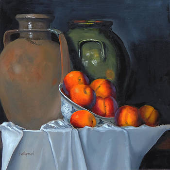 Still Life With Nectarines by Barry Williamson