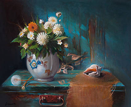 Still life with shell by Vasil Vasilev