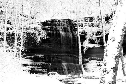 Stillhouse Hollow Falls Winter by Jim Johnson