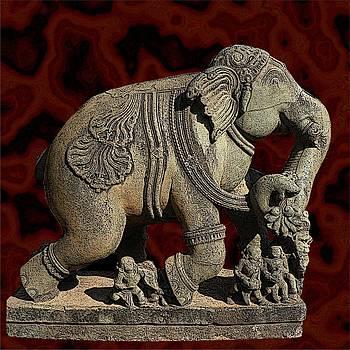 Stone Elephant by Nandan NAGWEKAR