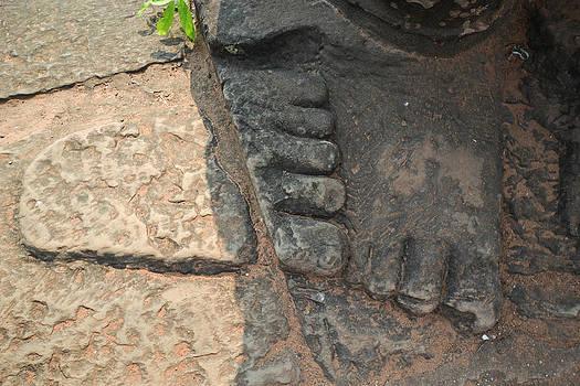 Stone Feet Cambodia by Bill Mock