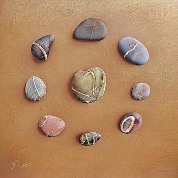 Stone letters by Elena Kolotusha
