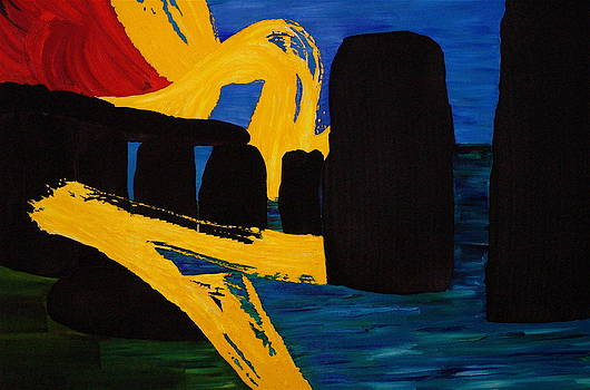Stonehenge Modern Abstract  by Impressionism Modern and Contemporary Art  By Gregory A Page