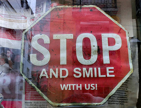 Stop and smile with us by Georgina Noronha