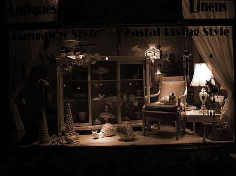 Store Window at Night by Phil Penne