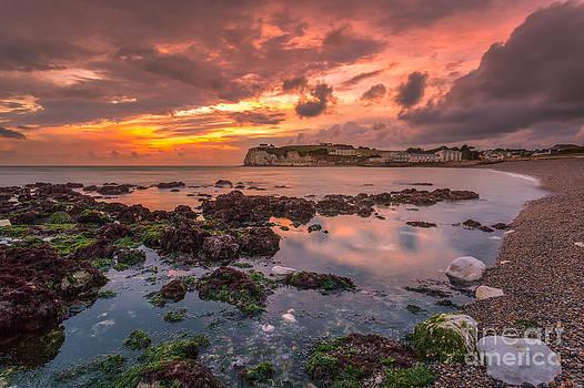 English Landscapes - Storm At Freshwater Bay #2