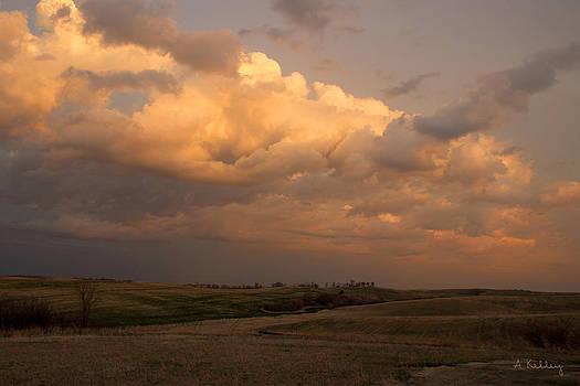 Storm Clouds near Amherst Nebraska by Andrea Kelley