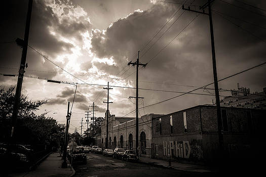 Storm Clouds Over Chartres Street in New Orleans.  by Louis Maistros