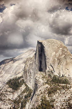 Storm Clouds over Half Dome by David Doucot