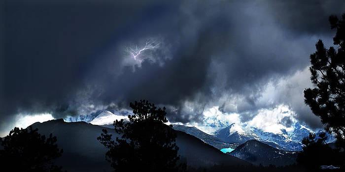Storm on Long's Peak by Ric Soulen