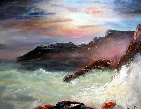 Storm on Mount Desert Island by Lee Piper