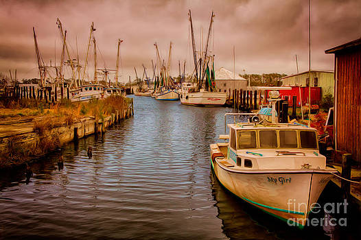 Stormy Day at Englehard - Outer Banks II by Dan Carmichael