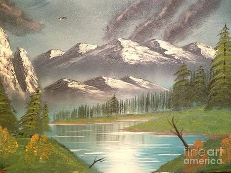 Stormy Mountain Lake by Tim Blankenship