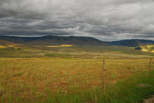 Stormy Skies Over an Open Field by Larry Moloney