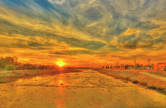 Angela A Stanton - Stormy Sunset over Santa Ana River