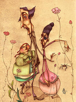 Strange Family by Autogiro Illustration