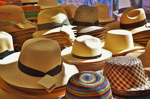 Straw hats by Dany Lison