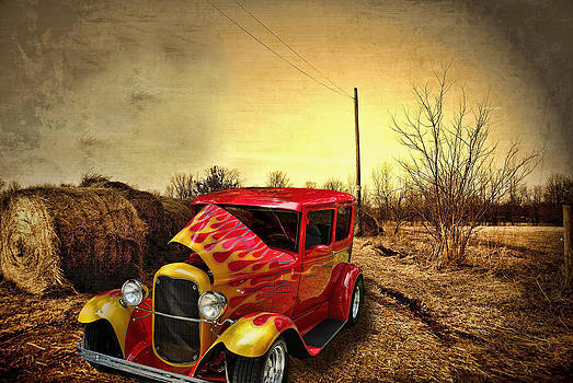 Straw Mill Road and Car by Mark Orr
