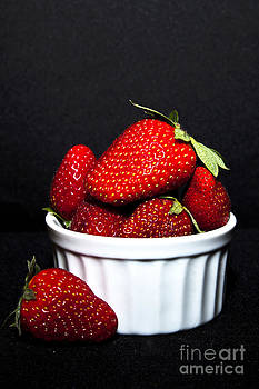 Strawberries in a Dish by Serene Maisey