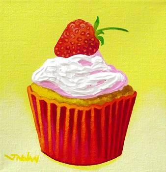 Strawberry Cupcake by John  Nolan