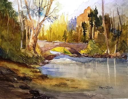 Stream and Bridge by Larry Hamilton
