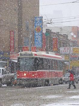 Alfred Ng - streecar in snow