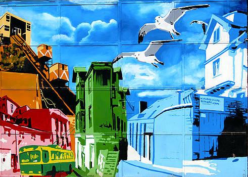 Kurt Van Wagner - Street art Valparaiso Chile 15