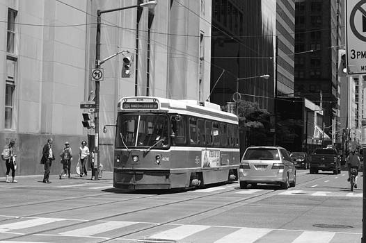 Street Car In Mono by Nicky Jameson