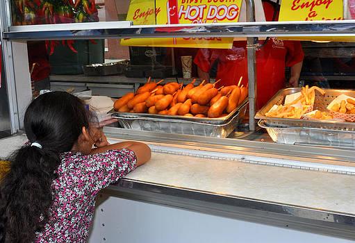 Street fair corn dogs by Diane Lent